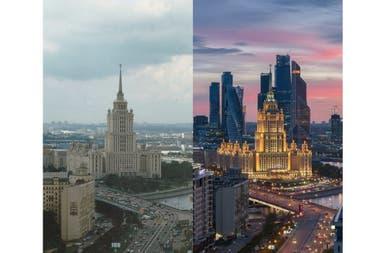 Imágenes de Moscú con 20 años de diferencia: más edificios en la capital de Rusia
