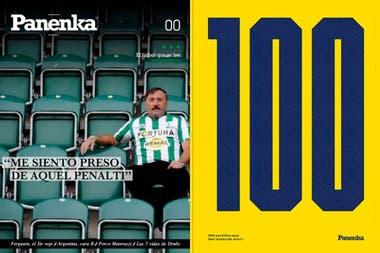 La evolución de la revista Panenka, de aquel primer número 0 a esta portada 100