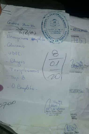 La documentación en la que basa su reclama la familia Gómez, en Formosa
