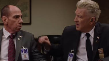Miguel Ferrer y David Lynch en Twin Peaks