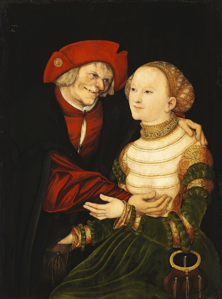Los enfermos-Parejas desparejas, de Lucas Cranach, el viejo