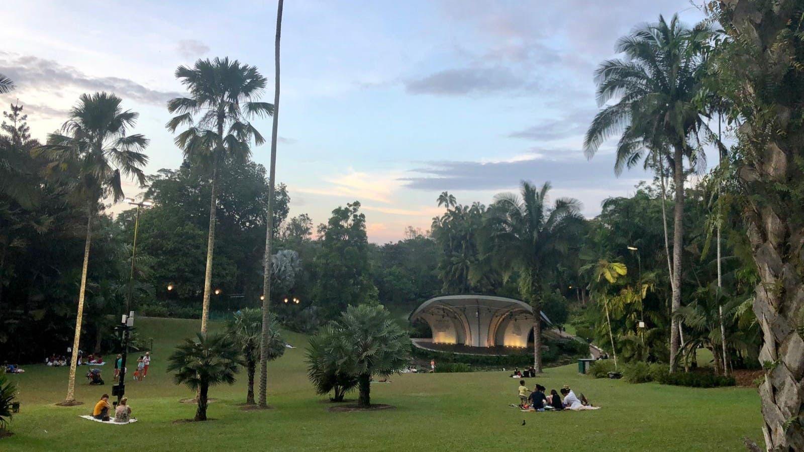 El jardín botánico de Singapur
