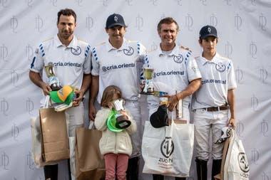 Oriental, el equipo campeón: Santiago Toccalino, Pelón Stirlng, Robert Zedda y Poroto Cambiaso