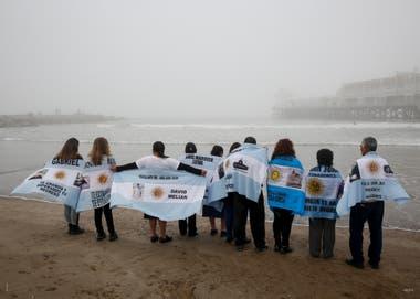 10 de mayo de 2018. Familiares de los tripulantes del ARA San Juan a seis meses de su desaparición
