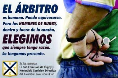 Mensajes tradicionales en los clubes de rugby