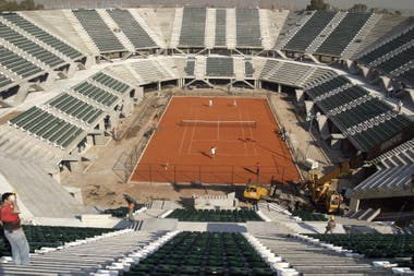 El estadio, en plena obra, antes de su inauguración.
