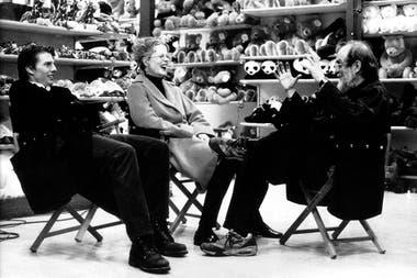 Stanley Kubrick con sus estrellas, Tom Cruise y Nicole Kidman