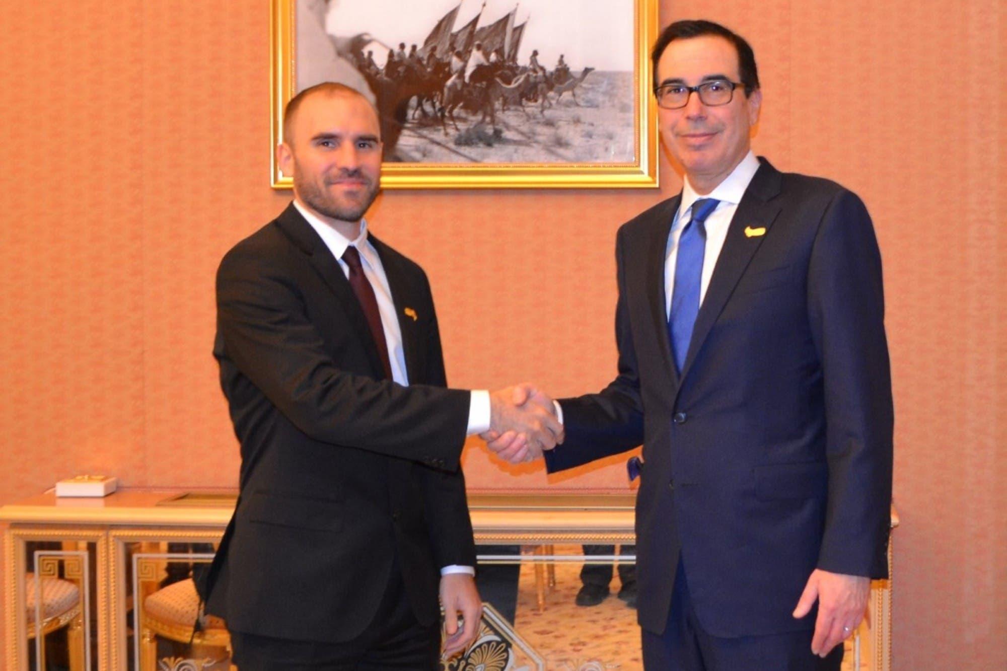 """Martín Guzmán se reunió con el secretario del Tesoro de EE.UU.: """"Es alentador encontrar coincidencias"""""""
