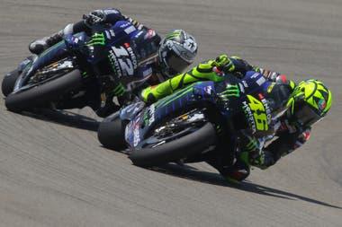 Valentino Rossi y Maverick Viñales, un duelo generacional entre pilotos de Yamaha; a los 41 años, Il Dottore logró el podio número 199 de su magnífica trayectoria