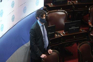 Martín Lousteau durante la sesión especial en el Senado