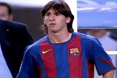El debut de Lionel Messi en el Barcelona, el 16 de octubre de 2004