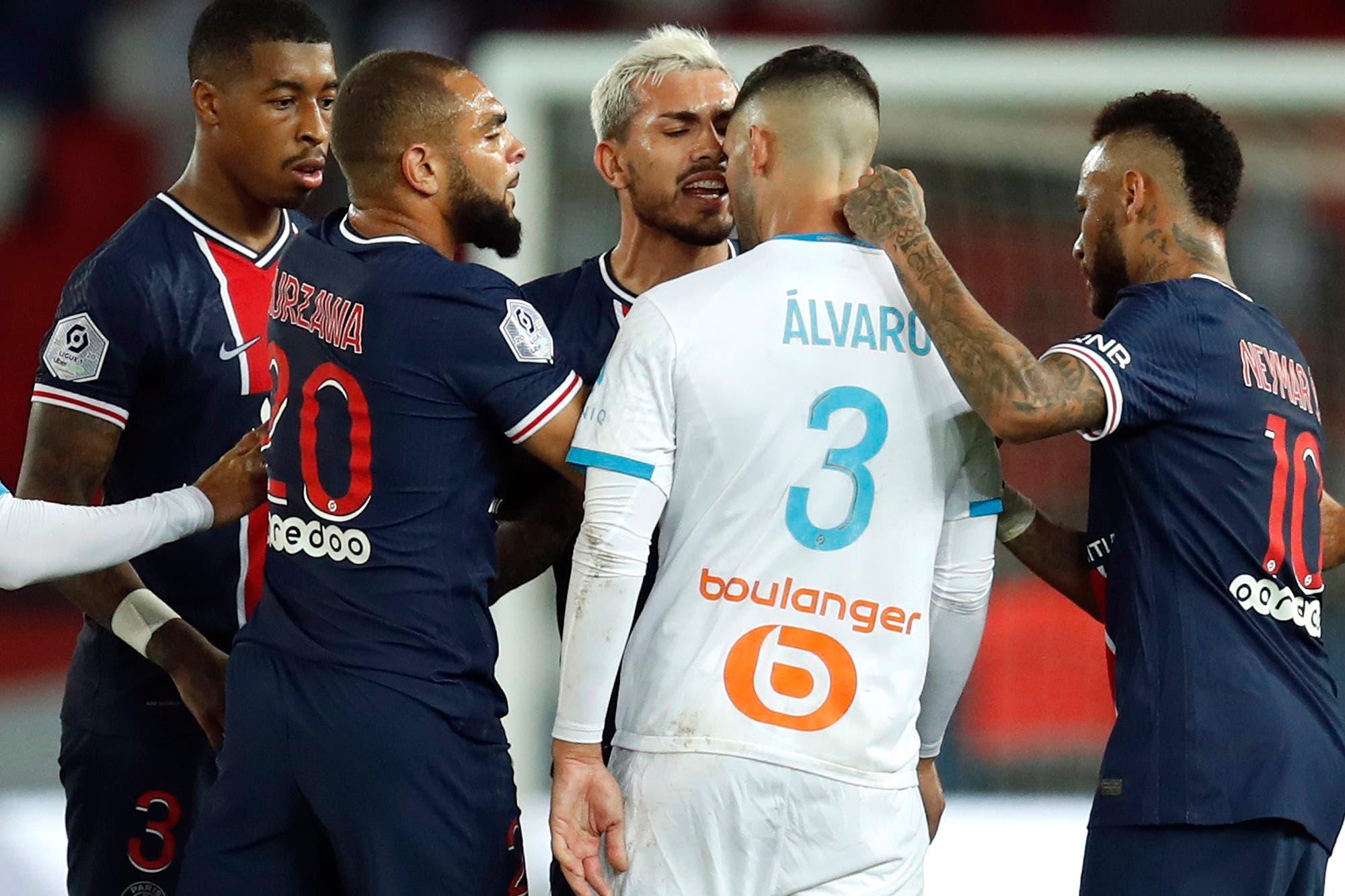 Francia. PSG perdió con Marsella en un partido escandaloso, con Neymar, Benedetto y Paredes expulsados
