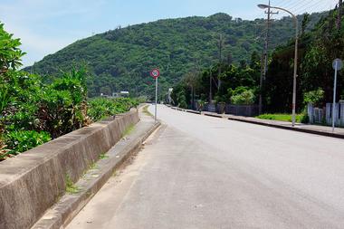 La ruta 58 de Okinawa que conecta con el poblado rural Ogimi
