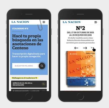 Buscar por palabra clave dentro de los cuadernos de las coimas de Oscar Centeno, otra de las funcionalidades pensadas para el usuario en la investigación exclusiva de LA NACION