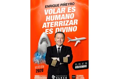 La pancarta con la que se promociona el espectáculo de Piñeyro en España