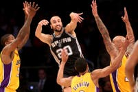 Con el sello de Manu Ginobili, los Spurs vencieron a los Lakers