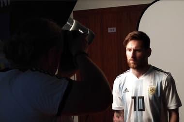 Lionel Messi, en la sesión de fotos oficiales