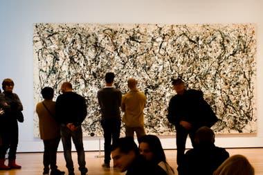 Un Jackson Pollock en el MoMa