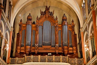 The organ of the basilica is the largest that exists and it works in the country today