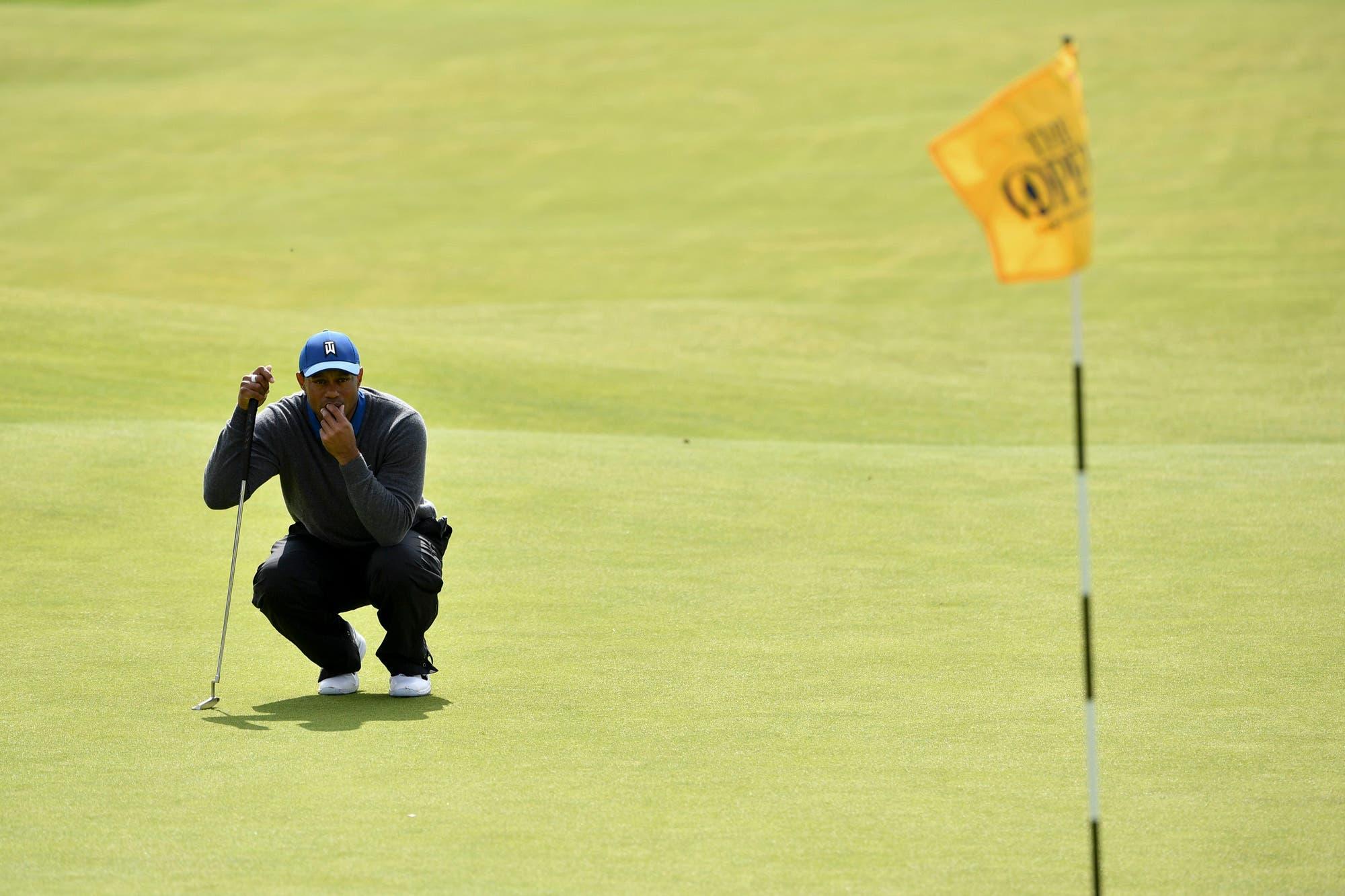 Abierto Británico: Tiger Woods apiló errores y es el más ilustre de los grandes que cierran la tabla