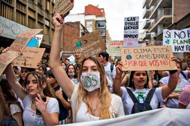 La marcha por el clima en la ciudad de Rosario