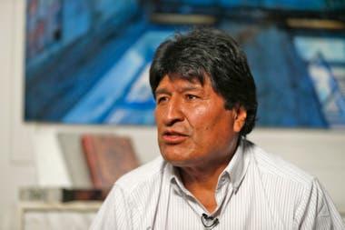 Evo Morales durante una entrevista
