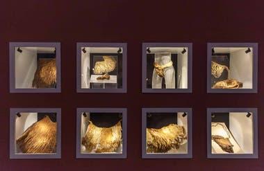 Algunos de los accesorios encontrados junto a las momias de Chinchorro exhibidos en el Museo San Miguel de Azapa.