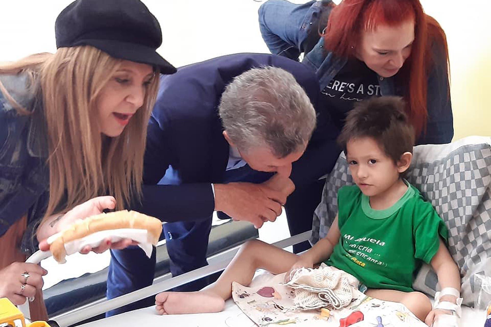 Mauricio Macri cumplió el pedido de un nene de 4 años con cáncer terminal