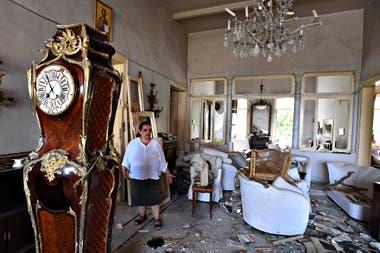 La gente regresa a sus hogares destruidos en Beirut, Líbano