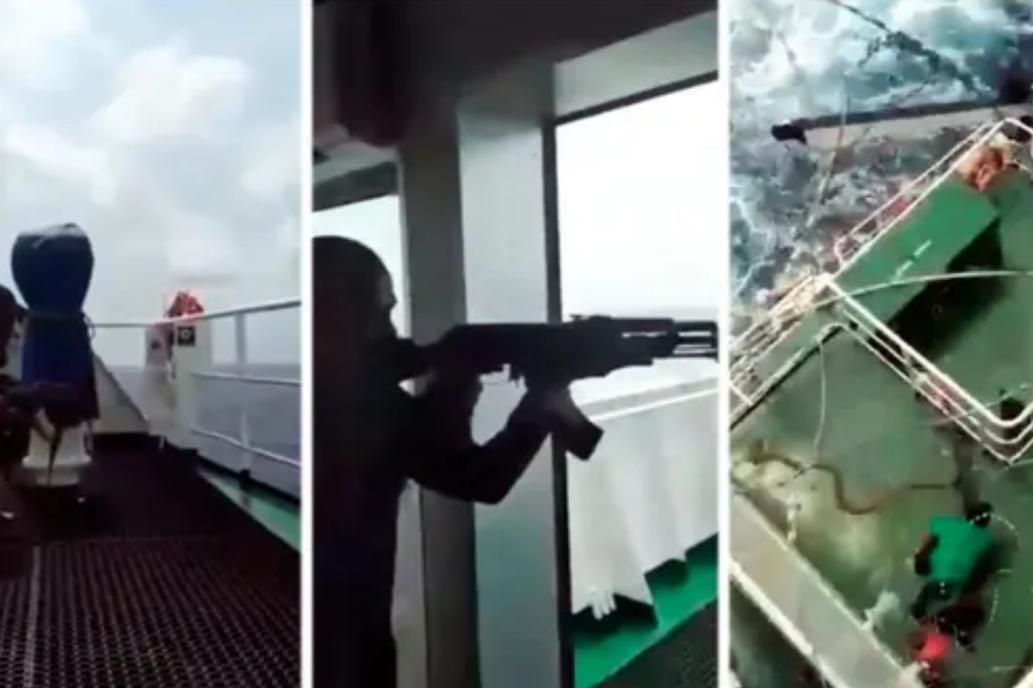 """""""¡Nos atacan piratas!"""": el video del brutal asalto a un barco en el golfo de Guinea"""