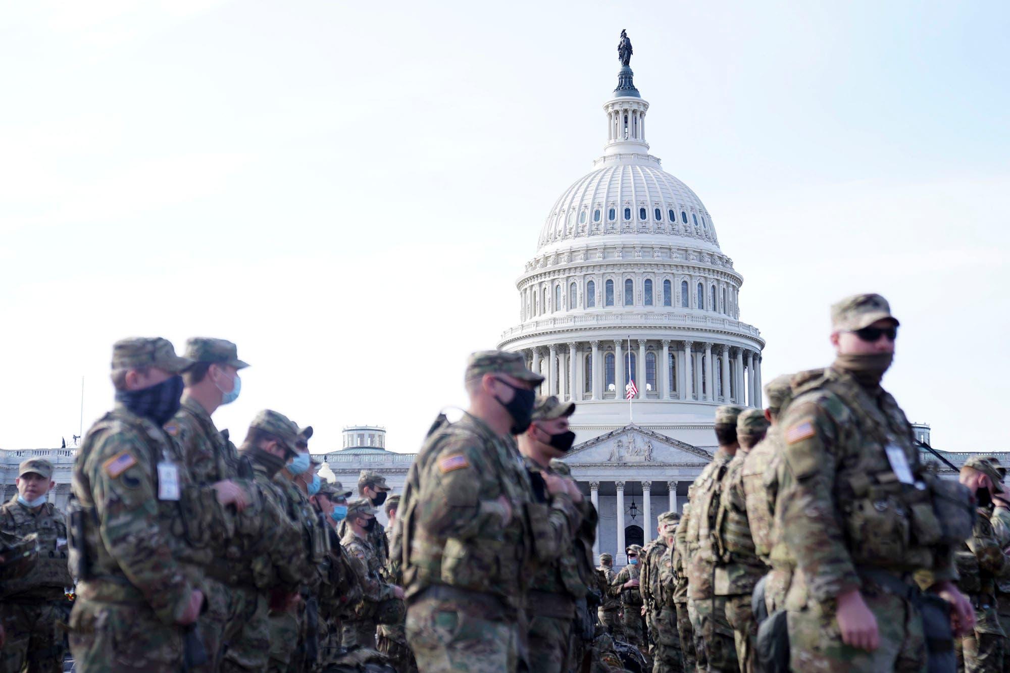Tensión en EE.UU. Washington, sitiada: cómo cambió la ciudad para el cambio de gobierno