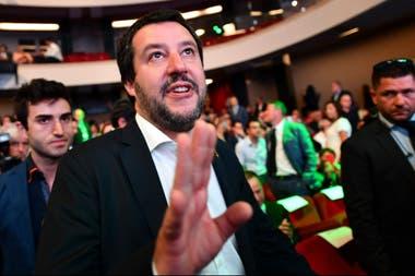 Matteo Salvini, ministro del Interior y líder de la xenófoba Liga