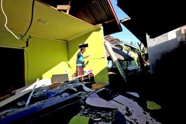 La zona más dañada fue el norte de Lombok, pero el sismo se sintió también la isla vecina de Bali