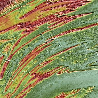Los montes Apalaches en el estado de Pensilvania en Estados Unidos