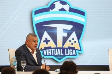 "Claudio ""Chiqui"" Tapia al presentar la AFA Virtual Liga"