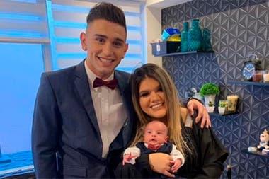 Facundo, Morena y su hijo Francesco