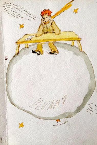 Una de las tantas representaciones del protagonista del libro más famoso de Saint-Exupéry