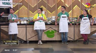Emanuel, Chiara, el tano y Dana, integrantes del equipo verde negaron al aire la insolencia de la que habló Petersen.