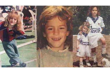 Fotos de Diego que pertenecen al álbum familiar de la familia Schwartzman: al Peque siempre le gustó el fútbol, pero se destacó más en el tenis.