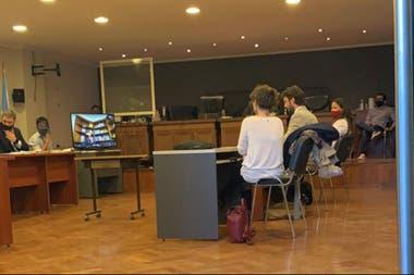 La audiencia realizada ayer. Donda estuvo de manera virtual