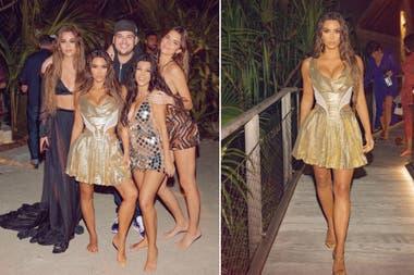 Kim Kardashian junto a sus tres de sus hermanas, Kendall Jenner, Khloé Kardashian y Kourtney Kardashian