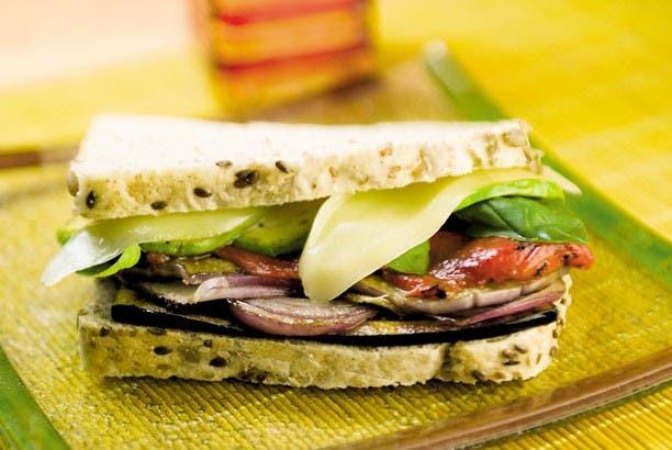 Receta de Sandwich vegetariano