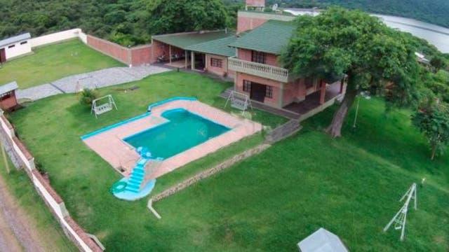 Foto de la casa de Sala que el gobernador Morales subió a Twitter