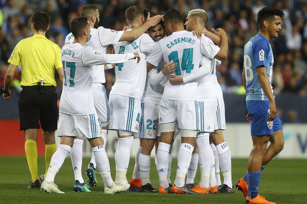 0a862e885b Real Madrid le ganó a Málaga por la Liga de España sin Cristiano Ronaldo