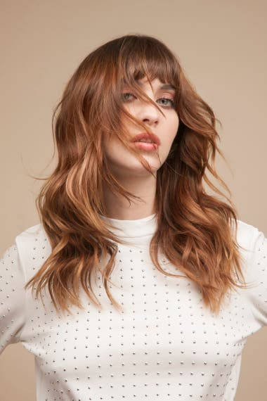 Corte de pelo desmechado de mujer