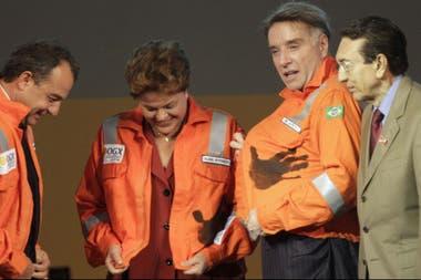 Con Dilma Rousseff, entonces presidenta