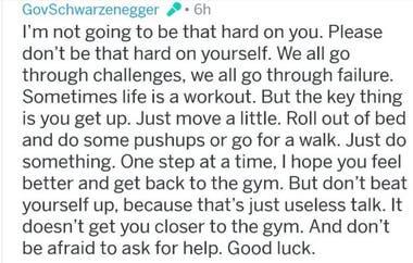 El mensaje que le dejó Arnold a un usuario de Reddit