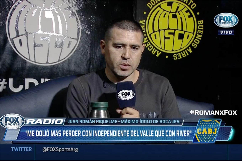 """Riquelme habló de la final de la Copa Libertadores: """"Ellos sabrán si el partido más importante fue este o el de Belgrano"""""""