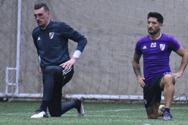 Armani y Casco, en las sesiones físicas de entrenamiento