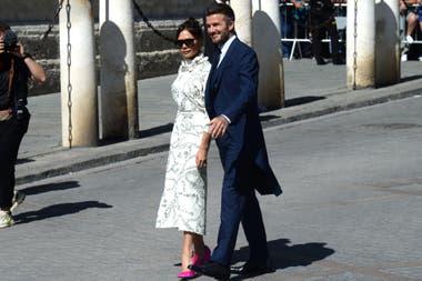 David Beckham con su mujer Victoria, la ex Spice Girls